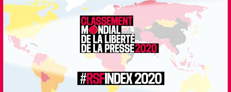 Classement Mondial de la Liberte de la Presse 2020